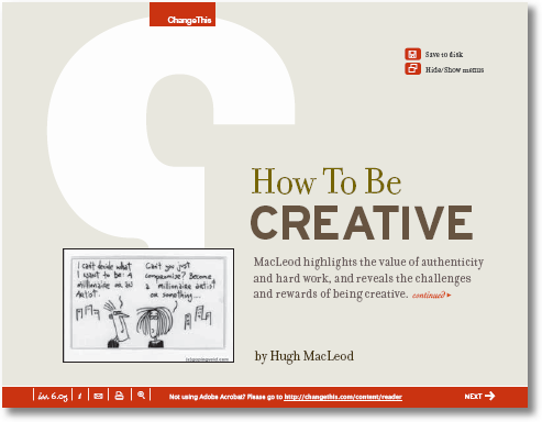 how to be creative-macleod