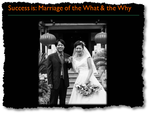 marriage of the what and why