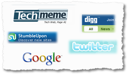 digg techmeme google twitter stumbleupon