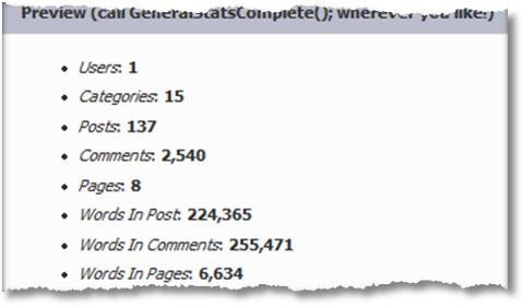 occam's razor blog stats