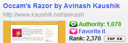 occams razor blog technorati rank citations