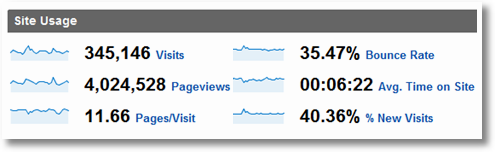 google analytics site overview