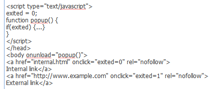 On Exit Survey Code