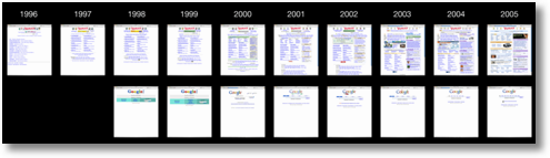yahoo google home page evolution