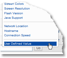 user defined values