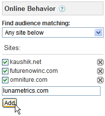 Add Sites in the Ad Planner