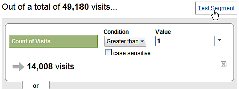 Segmenting Count of Visits
