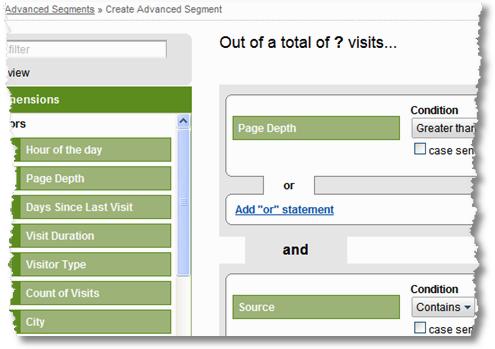 analytics advanced segmentation