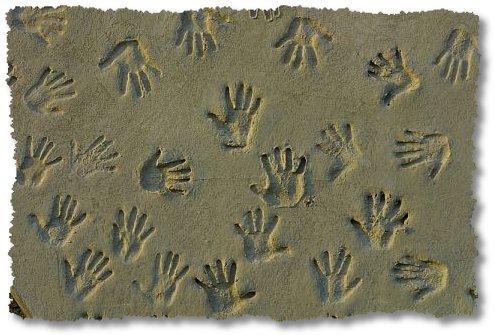 impressions hand prints