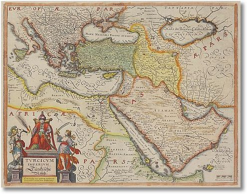 antique map of the turkish empire