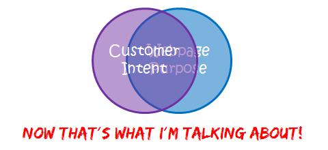 nirvana customer intent matches webpage purpose