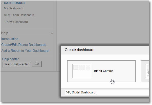analytics custom dashboards