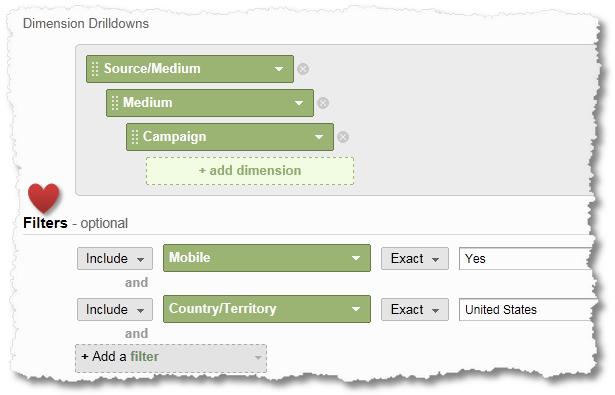 custom report filters