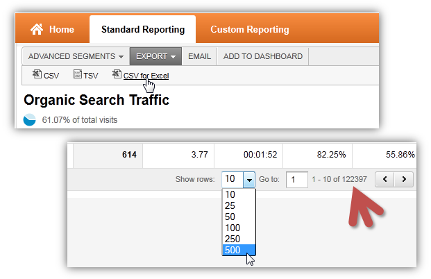download data from google analytics