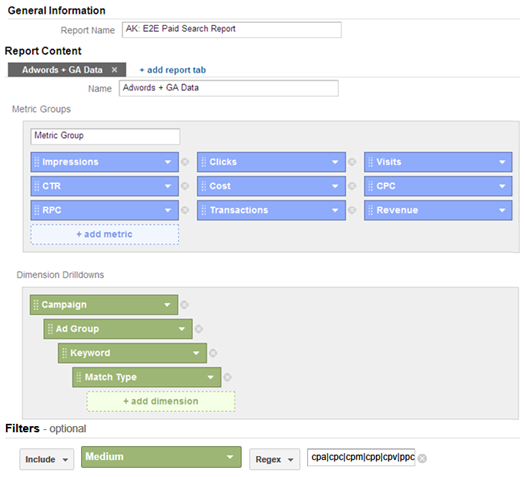 adwords analtyics end to end report sm