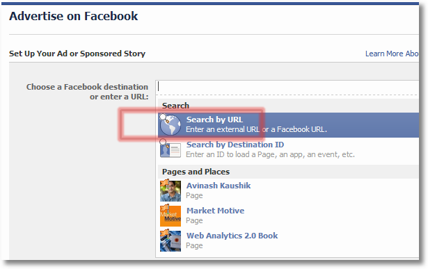 advertise on facebook drive to your site