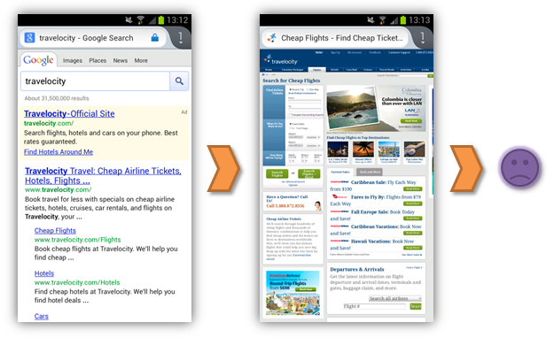 travelocity mobile experience