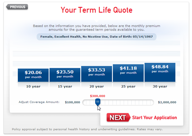 aaa term life insurance results adjusted