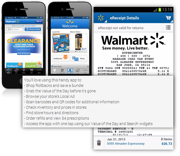 walmart mobile experience
