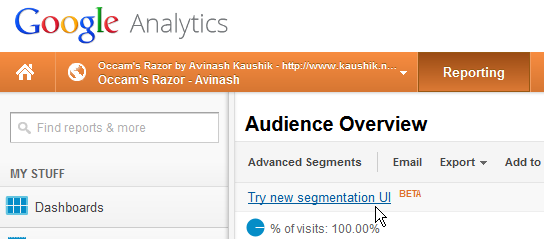 Google Analytics Visitor Segmentation: Users, Sequences
