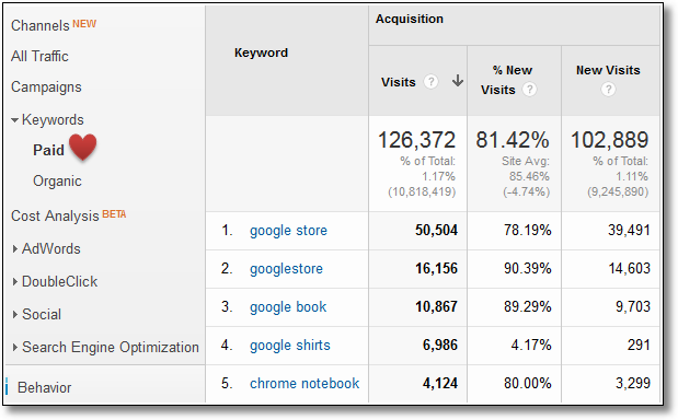 paid search analysis google analytics