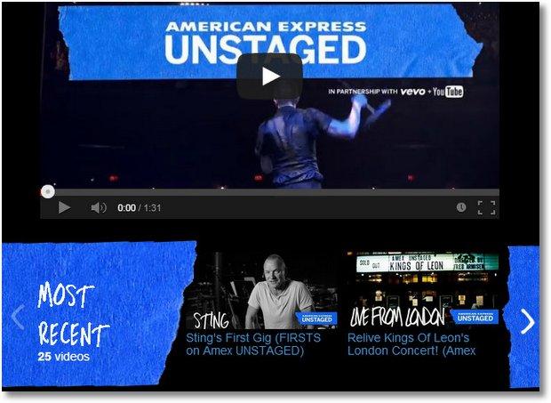 amex unstaged sponsorship youtube