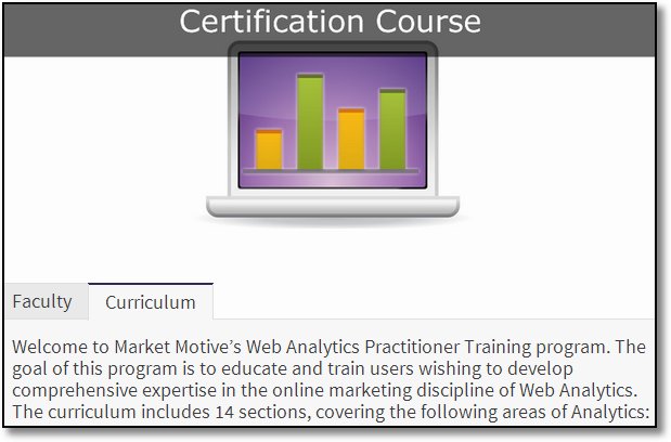 web analytics certification course