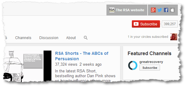 youtube rsa subscribers