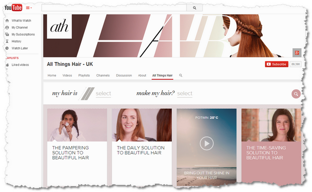 YouTube All Things Hair UK