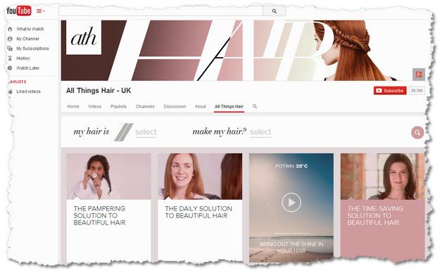 YouTube All Things Hair UK