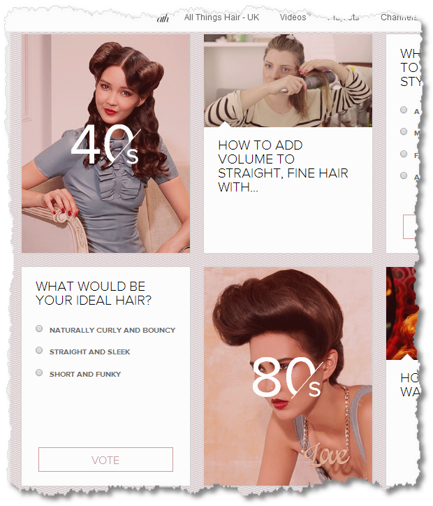 YouTube All Things Hair UK quizzes
