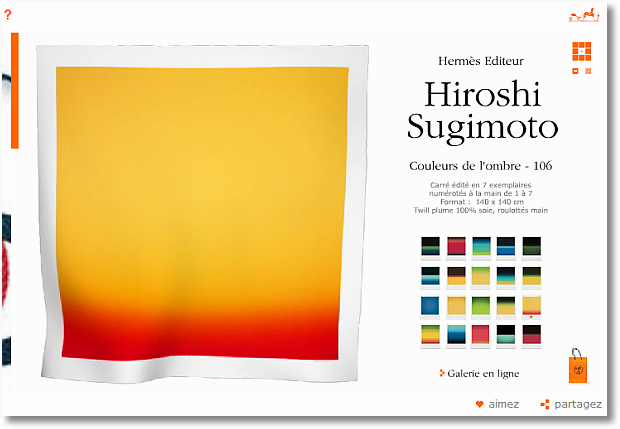 hermes hiroshi sugimoto scarf