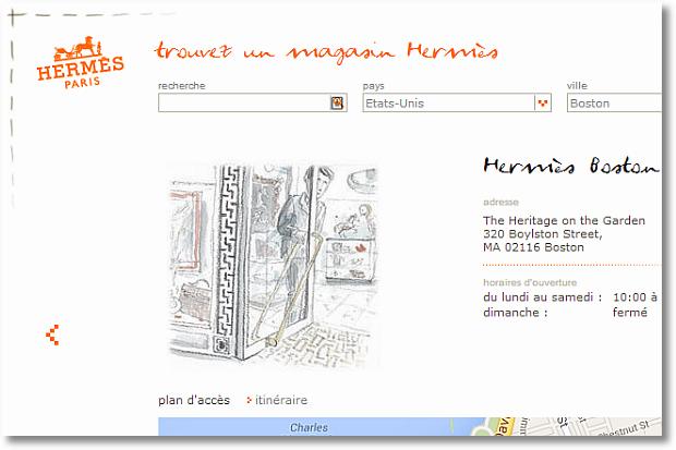 hermes store locator