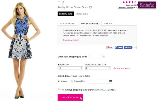 rent a runway tbi dress