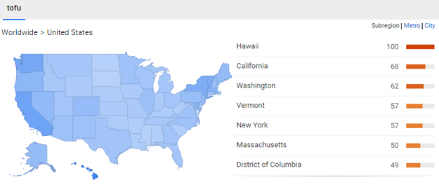 google trends tofu geo