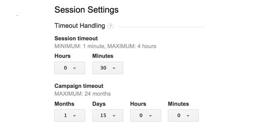 universal analytics session settings