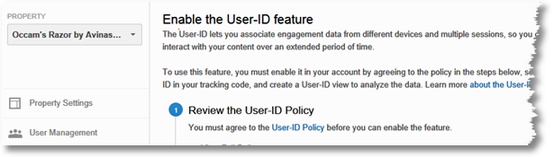 user id setting