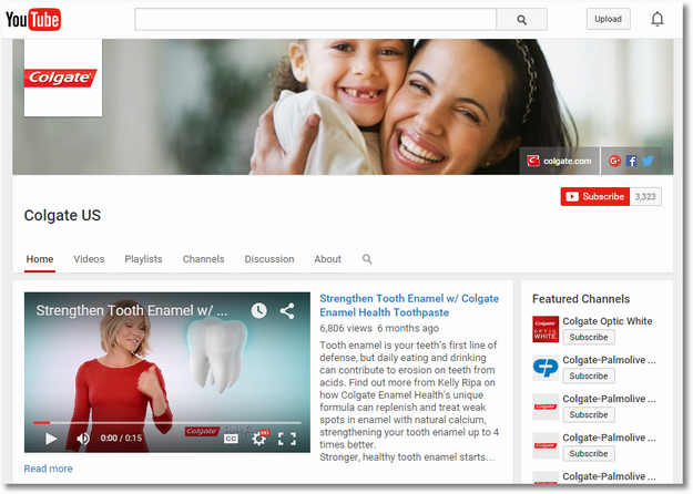 colgate us youtube