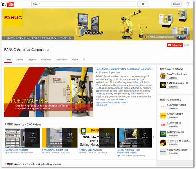 Fanuc youtube