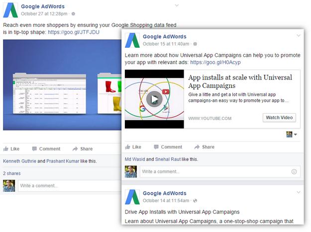 google adwords facebook