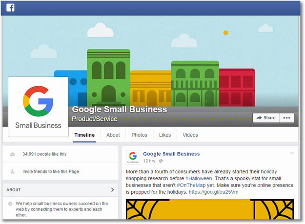 google small business facebook