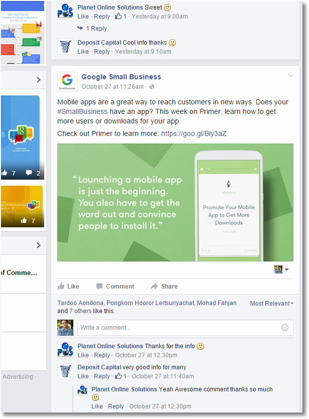google small business facebook detail