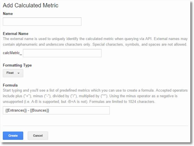 calculated metrics choices