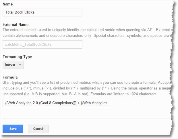 calculated metrics combining goals
