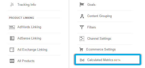 google analytics calculated metrics