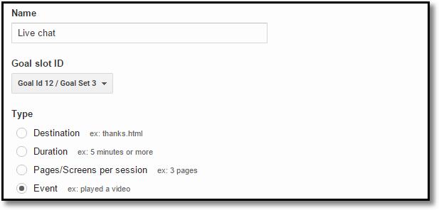all goal types google analytics