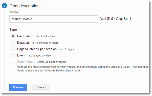 google analytics outbound clicks goal
