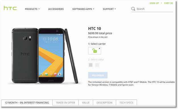 HTC Checkout